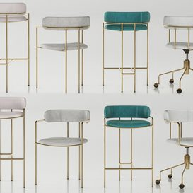 WEST ELM Lenox set 3d model Download  Buy 3dbrute