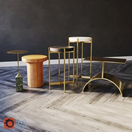 Side Tables  Set 02 3d model Download  Buy 3dbrute