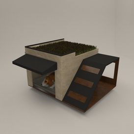 Modern Dog house 3d model Download  Buy 3dbrute