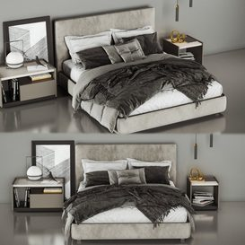 Molteni&C Ribbon Bed 3d model Download  Buy 3dbrute