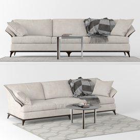 Caracole Sofa A Simple Life LT 3d model Download  Buy 3dbrute