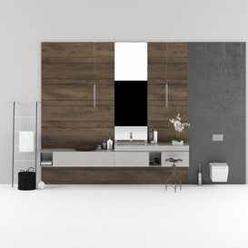 Set of bathroom furniture MODULNOVA LT 3d model Download  Buy 3dbrute