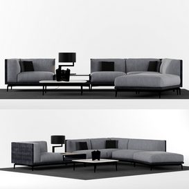 Visionnaire Legend L sofa set LT 3d model Download  Buy 3dbrute