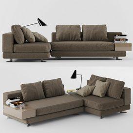 sofa M01 LT 3d model Download  Buy 3dbrute