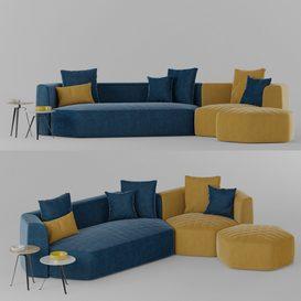 Bonaldo Panorama Sofa LT 3d model Download  Buy 3dbrute