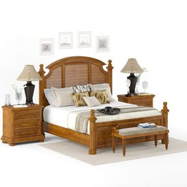lexington home brands charlestown bed (king size) LT 3d model Download  Buy 3dbrute