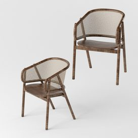 Cane Chair Casey by Cane Collection LT 3d model Download  Buy 3dbrute