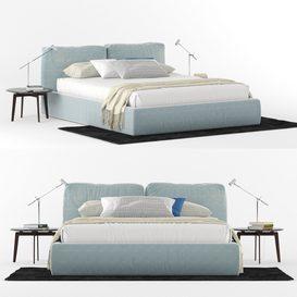 Brick Novamobili Bed LT 3d model Download  Buy 3dbrute