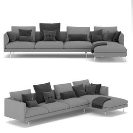 1333 Flamingo Zanotta Sofa LT 3d model Download  Buy 3dbrute