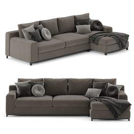 Sofa Natuzzi Leaf LT 3d model Download  Buy 3dbrute
