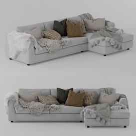 EQ3 Cello Sectional Sofa LT 3d model Download  Buy 3dbrute
