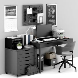 Ikea office workplace 15 LT 3d model Download  Buy 3dbrute