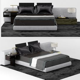 YANG BED WIDE LT 3d model Download  Buy 3dbrute