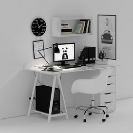 Desk in the Scandinavian style LT 3d model Download  Buy 3dbrute