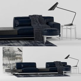 Natuzzi Ido Sofa LT 3d model Download  Buy 3dbrute