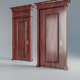 Wooden door 3d model Download  Buy 3dbrute