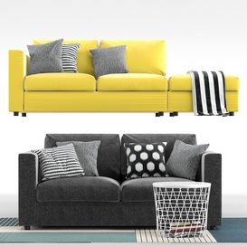 Sofas Vimle Ikea Vimle Ikea 3d model Download  Buy 3dbrute