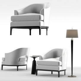 Baker Carnelian Lounge Chair 3d model Download  Buy 3dbrute