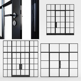 Steel doors LT 3d model Download  Buy 3dbrute