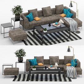 Flexteam Planet Sofa LT 3d model Download  Buy 3dbrute