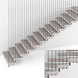 Stairs 076647 LT 3d model Download  Buy 3dbrute