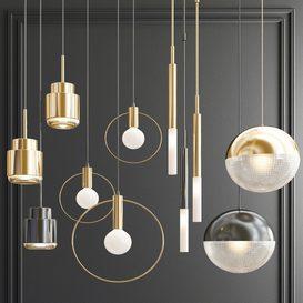 Four Hanging Lights_59 3d model Download  Buy 3dbrute