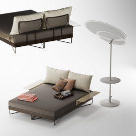 ROBERTI CORAL REEF 9805 Day-bed LT 3d model Download  Buy 3dbrute