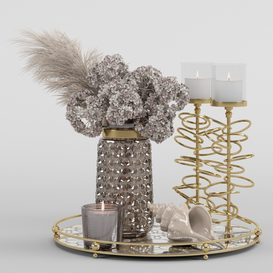 Bouquet of dry hydrangea and pampas grass with a sink LT 3d model Download  Buy 3dbrute