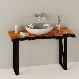 SLAB WASH BASIN LT 3d model Download  Buy 3dbrute