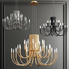 Four Exclusive Chandelier Collection_61 3d model Download  Buy 3dbrute