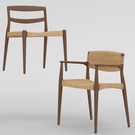 Chair and armchair Ejner Larsen & Aksel Bender Madsen LT 3d model Download  Buy 3dbrute