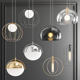 Four Hanging Lights_60 3d model Download  Buy 3dbrute