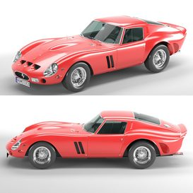 Ferrari 250 GTO LT 3d model Download  Buy 3dbrute