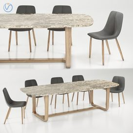 Bonaldo By chair Medley table 3d model Download  Buy 3dbrute