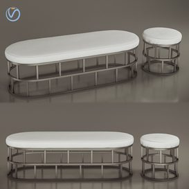 Bucket and pouf Riviera 3d model Download  Buy 3dbrute