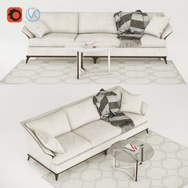 Caracole Sofa A Simple Life 3d model Download  Buy 3dbrute