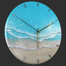 Clock Sea Wave 3d model Download  Buy 3dbrute