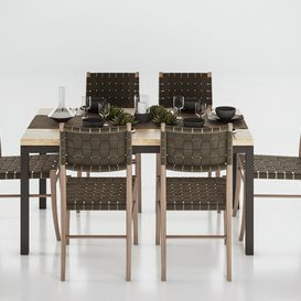 Crate and Barrel Dining Table 3d model Download  Buy 3dbrute