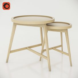 Dome Deco set of coffee tables 3d model Download  Buy 3dbrute