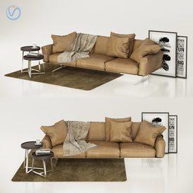 Flexform Soft Dream Sofa 3d model Download  Buy 3dbrute