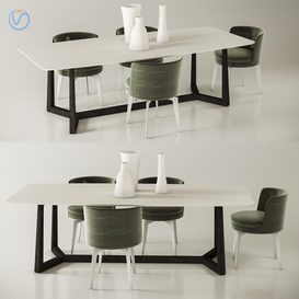 FLEXFORM Table Chais 3d model Download  Buy 3dbrute