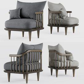 Fly arm chair LT 3d model Download  Buy 3dbrute