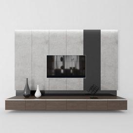 Modern TV Unit 3d model Download  Buy 3dbrute