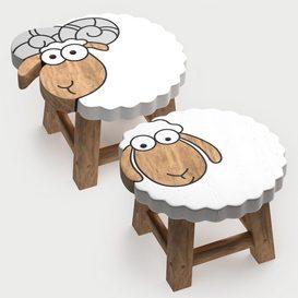 kids furniture01-animal chairs 3d model Download  Buy 3dbrute