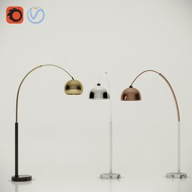 Modern Arc Floor Lamp Set 02 3d model Download  Buy 3dbrute
