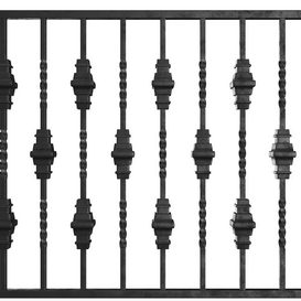 Wrought Iron Bundle No4 Fence 3d model Download  Buy 3dbrute