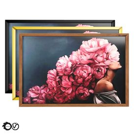 Art Frames 6- Art Flower Head Woman By 3 Frames 3d model Download  Buy 3dbrute