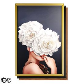 Art Frams 5- Art Flower Head Woman By 3 Frams 3d model Download  Buy 3dbrute
