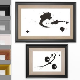 Art Frams 88- 2 Art Frames Collection Kanji 3d model Download  Buy 3dbrute