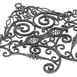 Wrought Iron Rail Clone Preset 3d model Download  Buy 3dbrute